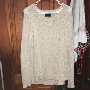 gold knit women's sweater